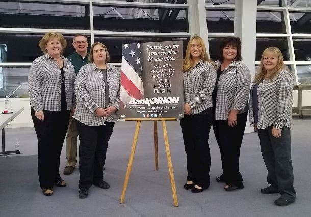 BankORION Participate in the Honor Flight of the Quad Cities