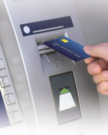 BankORION Chip Card at ATM